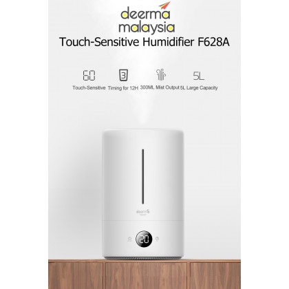 Deerma F628A (DIGITAL TOUCH SCREEN) Air Humidifier + Aroma Oil Space